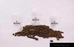 咖啡纸杯设计效果图样机模板 Coffee Cups Mockup