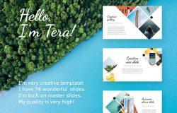 多彩夏季时尚创意主题演讲PPT幻灯片演示模板Tera Presentation