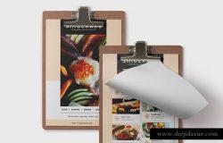 高档日本寿司刺身餐厅菜单设计PSD模板