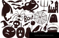 手绘万圣节插图合辑 Halloween Vector Collection