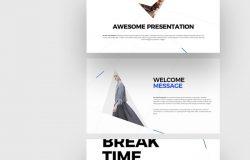 多功能时尚服装设计师作品展示推广主题演讲幻灯片模板NOVA Presentation