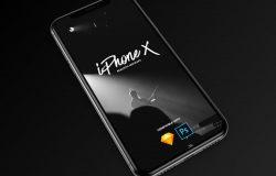 多角度苹果iPhone X手机显示设备PSD贴图样机模型Most Popular iPhone X