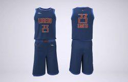 篮球队队服品牌/Logo设计样机