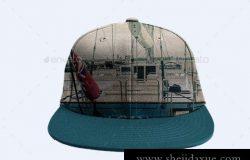 鸭舌帽贴图模板Baseball Cap