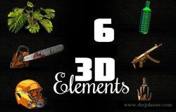 6个3D游戏模型6
