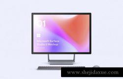 微软工作站一体机网页UI贴图样机PSD模板素材 Microsoft Surface Studio 2 Mockups