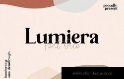 豪华经典的无衬线英文字体 Lumiera Font Duo