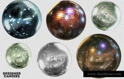 舞厅灯光球3D高清元素3D Disco Balls Pack