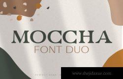 豪华优雅的现代无衬线英文字体 Moccha Font Duo