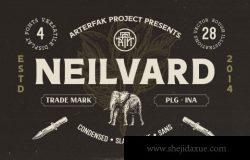 复古守旧非衬线英文字体 Neilvard – Font Set
