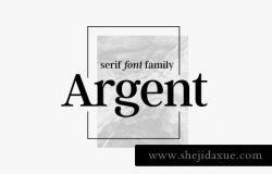 衬线字体 Argent CF expressive serif font