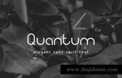 个性优雅的无衬线英文字体 Quantum