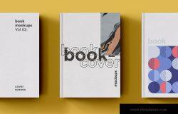 高端图书封面艺术设计图样机模板 Book Cover Mockup set