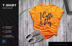 T恤创意摆拍效果图样机模板 TShirt Mockup