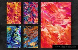 创意抽象纹理系列:40款魅力四射抽象纹理&PS笔刷