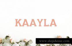 漂亮百搭字体 Kaayla Slab Serif 4 Font Pack