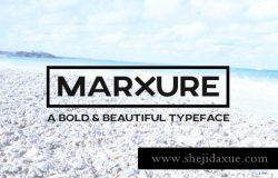 大气的无衬线字体 MARXURE Headline Typeface