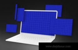 透视角度的响应式网页展示电脑手机样机素材下载