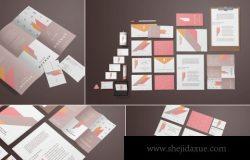 时尚高端多用途的高品质企业文具品牌样机VI展示模型