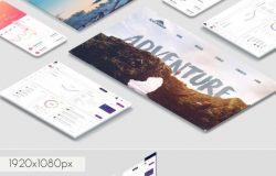 互联网全平台产品APP网页平板等应用设计展示样机下载