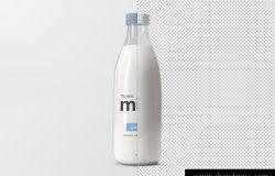 牛奶瓶贴图样机PSD模版