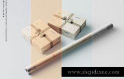 高品质逼真质感礼品盒包装设计