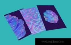 科技感的抽象 3D 渲染的有机形状背景素材