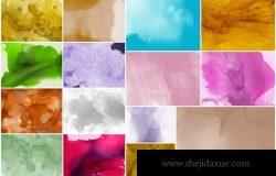 水彩墨水背景纹理材质素材下载