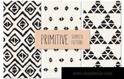 原始部落图案背景纹理 Primitive Seamless Patterns Set