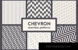 几何背景纹理 Chevron Seamless Patterns