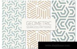 几何无缝图案背景 Geometric Seamless Patterns
