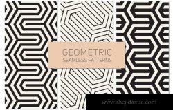 几何无缝背景纹理 Geometric Seamless Patterns Set