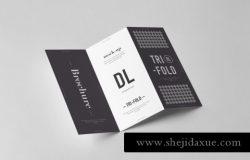 时尚高端质感的高品质房地产三折页设计fold dl brochure