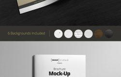 方形画册样机模板 Square Brochure Mock-Up