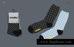 高品质多角度运动长袜贴图展示样机模板