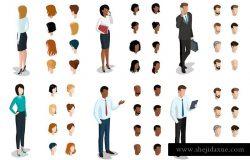 20个不同形象的商务人物矢量素材I
