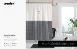 窗帘图案花纹纹样设计Bath Curtain