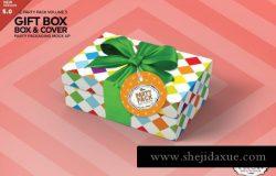 长方形礼物包装盒设计样机Packaging Mockup