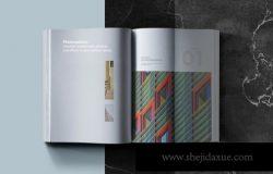 房地产楼书杂志宣传册设计VI样机展示模型