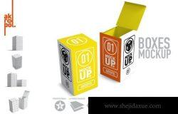 药物药瓶盒子包装设计样机