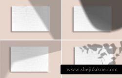 15个真实阴影场景贴图展示模板 Shadow Mockup Overlays