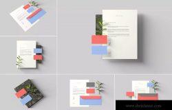 创意办公用品套件品牌VI设计预览样机 Branding Stationery Mockups