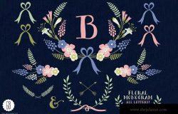 花环桂冠花背景装饰素材
