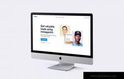 2019款iMac一体机电脑多屏幕预览样机模板 iMac 2019 Mockup – Multi Devices