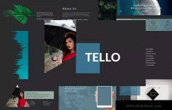 企业初创项目融资方案PPT幻灯片模板 TELLO Powerpoint Template
