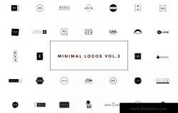 50款极简主义几何图形创意Logo设计模板V3 50 Minimal Logos