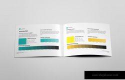 创意横版设计风格企业公司画册排版设计模板