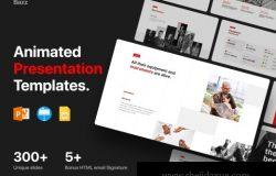 个性完美平滑的PPT动画交互演示模板 Bazz Presentation Template