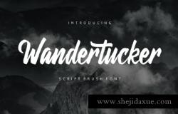 手写英文字体 Wandertucker Brush-lettering Script