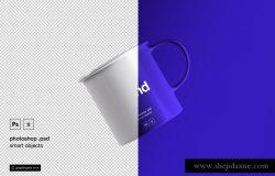 漂浮的茶杯贴图展示模版 Floating Tea Cup Mockup